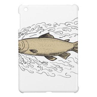 Brown Trout Waves Tattoo iPad Mini Cases