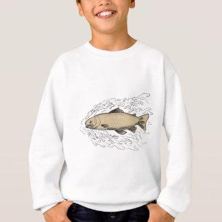 Brown Trout Waves Tattoo Sweatshirt
