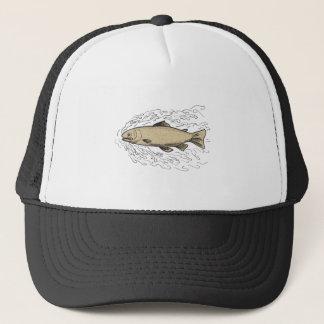 Brown Trout Waves Tattoo Trucker Hat