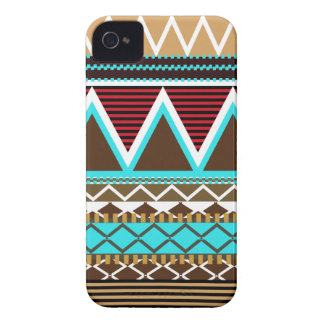 Brown & Turquoise Tribal iPhone 4 Case