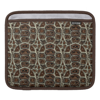 Brown Turtle Shell Pattern Sleeve For iPads