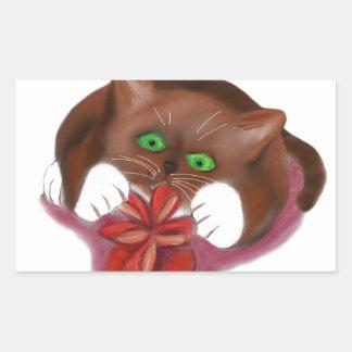 Brown Tuxedo Kitten Attacks Heart Box of Chocolate