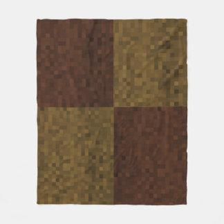 Brown Two Toned Mosaic Pattern, Fleece Blanket