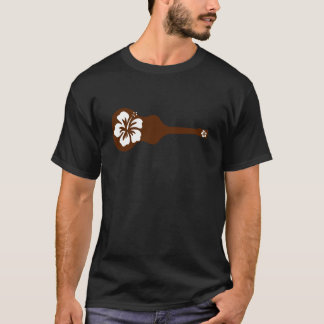 Brown Ukulele aloha flower design T-Shirt