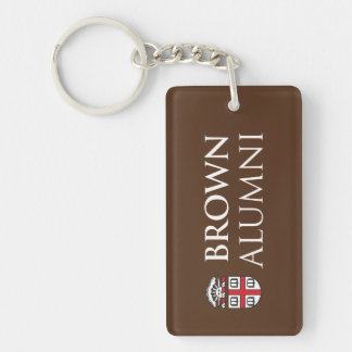 Brown University Alumni Double-Sided Rectangular Acrylic Keychain