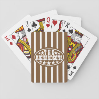 Brown Vintage Carnival Family Poker Deck