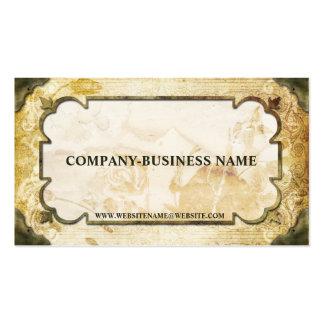 Brown vintage et cartes de visite bronzages de pap carte de visite standard