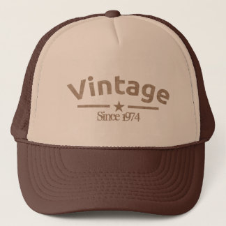 Brown Vintage Grunge Gritty Year, For Him Trucker Hat