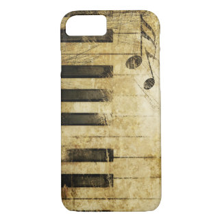 brown vintage music piano keyboard art Case-Mate iPhone case