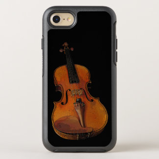 Brown Violin Music OtterBox Symmetry iPhone 7 Case