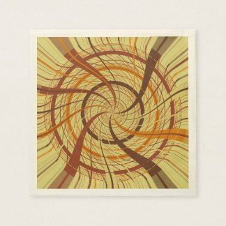 Brown vortex disposable napkins