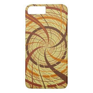 Brown vortex iPhone 7 plus case