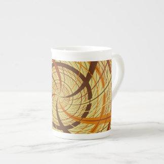 Brown vortex tea cup
