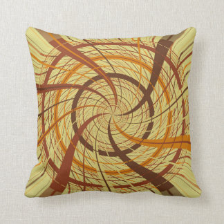 Brown vortex throw pillow