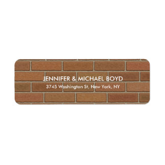 Brown Wall Unique Modern Stylish Sheet Return Address Label