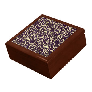 Brown waves pattern. Sea texture. Gift Box
