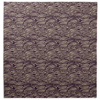 Brown waves pattern. Sea texture. Napkin