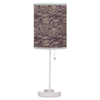 Brown waves pattern. Sea texture. Table Lamp