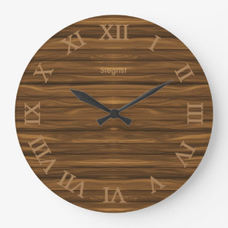 Brown Weathered Wood Style Clock | Zazzle