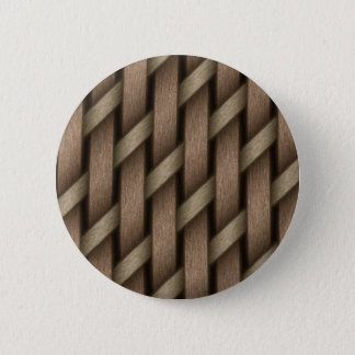 Brown weave from basket  textile 2 inch round button