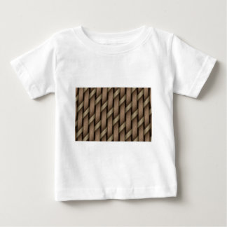 Brown weave from basket  textile baby T-Shirt