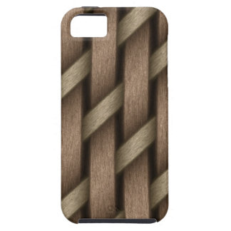 Brown weave from basket  textile iPhone 5 case