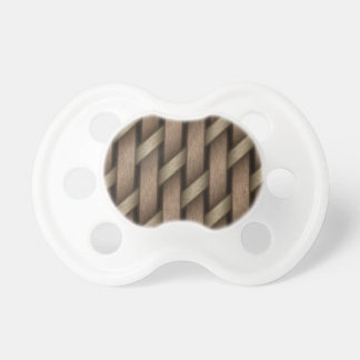 Brown weave from basket  textile pacifier