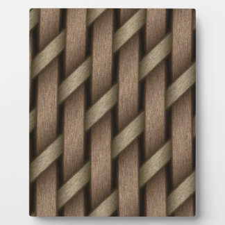 Brown weave from basket  textile plaque