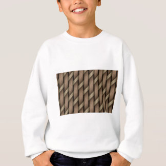 Brown weave from basket  textile sweatshirt
