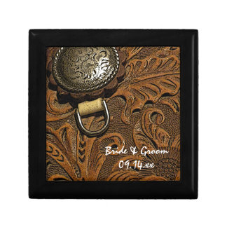 Brown Western Saddle Country Wedding Gift Box