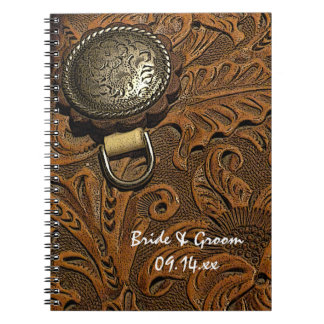 Brown Western Saddle Country Wedding Notebooks