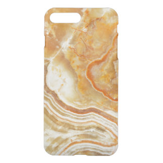 Brown White And Beige Marble Pattern iPhone 7 Plus Case