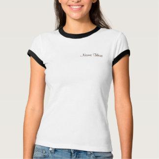 Brown, White Giraffe Animal Print Baby Shower T-Shirt