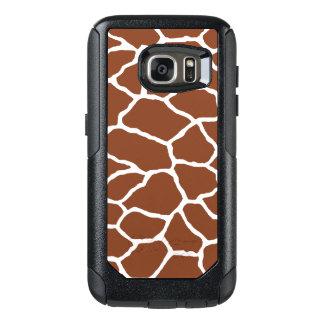 Brown White Giraffe Print OtterBox Galaxy 7 OtterBox Samsung Galaxy S7 Case