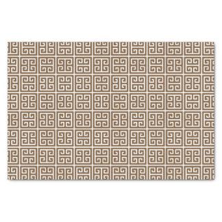 Brown White Greek Key Tissue Paper