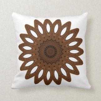 Brown & White Southwestern Throw Pillow