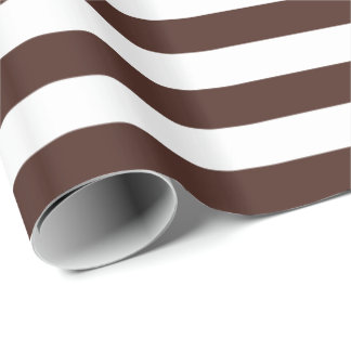 Brown/White Stripe Wrapping Paper