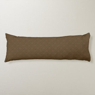 Brown Wicker Look Body Pillow