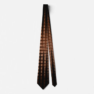 Brown with Soft White Abstract Tie
