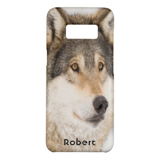 Brown wolf smiling Case-Mate samsung galaxy s8 case