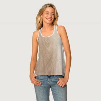 Brown Wood Design Tank Top