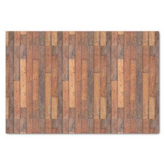 Brown Wood Planks Pattern Tissue Paper