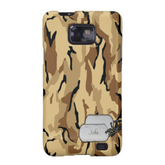Brown Wood Themed Military Camouflage Galaxy S2 Case