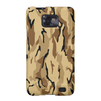 Brown Wood Themed Military Camouflage Galaxy SII Covers