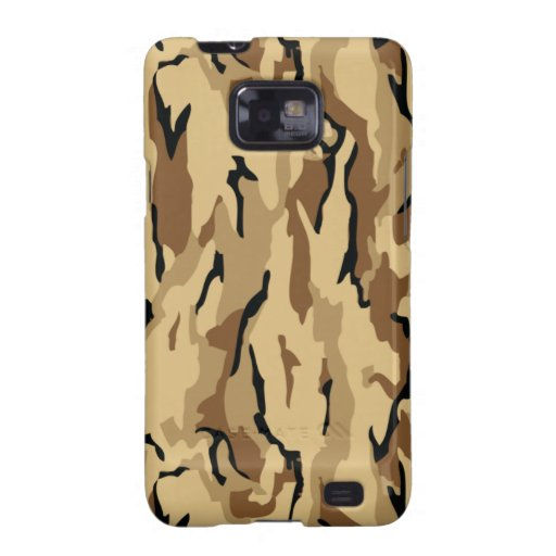Brown Wood Themed Military Camouflage Samsung Galaxy Covers