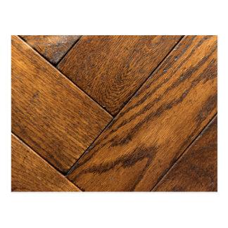 Brown Wooden Parquet Floor Postcard