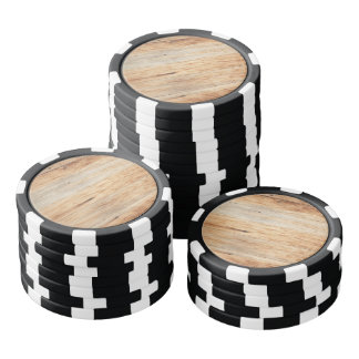 Brown wooden texture frame background poker chips