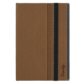 Brown Worn-Out Leather Look Cover For iPad Mini