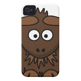Brown Yak Cartoon iPhone 4 Case