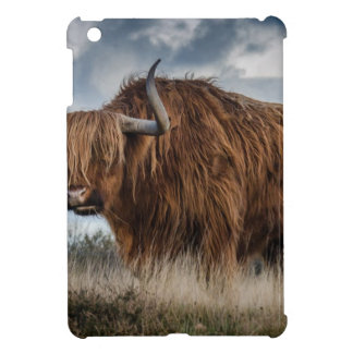 Brown Yak on Green and Brown Grass Field Case For The iPad Mini